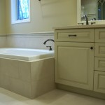 White Bathroom Faucet Installation by Gander Plumbing