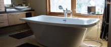 Bathroom remodel with a beautiful view. Gander Plumbing   Heating   Rochester  Minnesota Plumbing Services