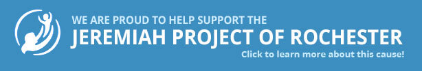 We're a Proud Supporter of the Jeremiah Project of Rochester; Click here to learn more